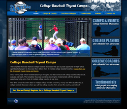 College Baseball Tryout Camps