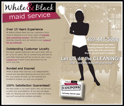 White & Black Maid Service